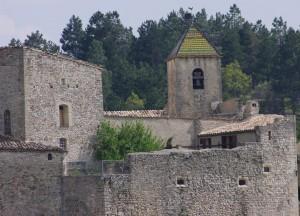 Château d'Aurel et Eglise