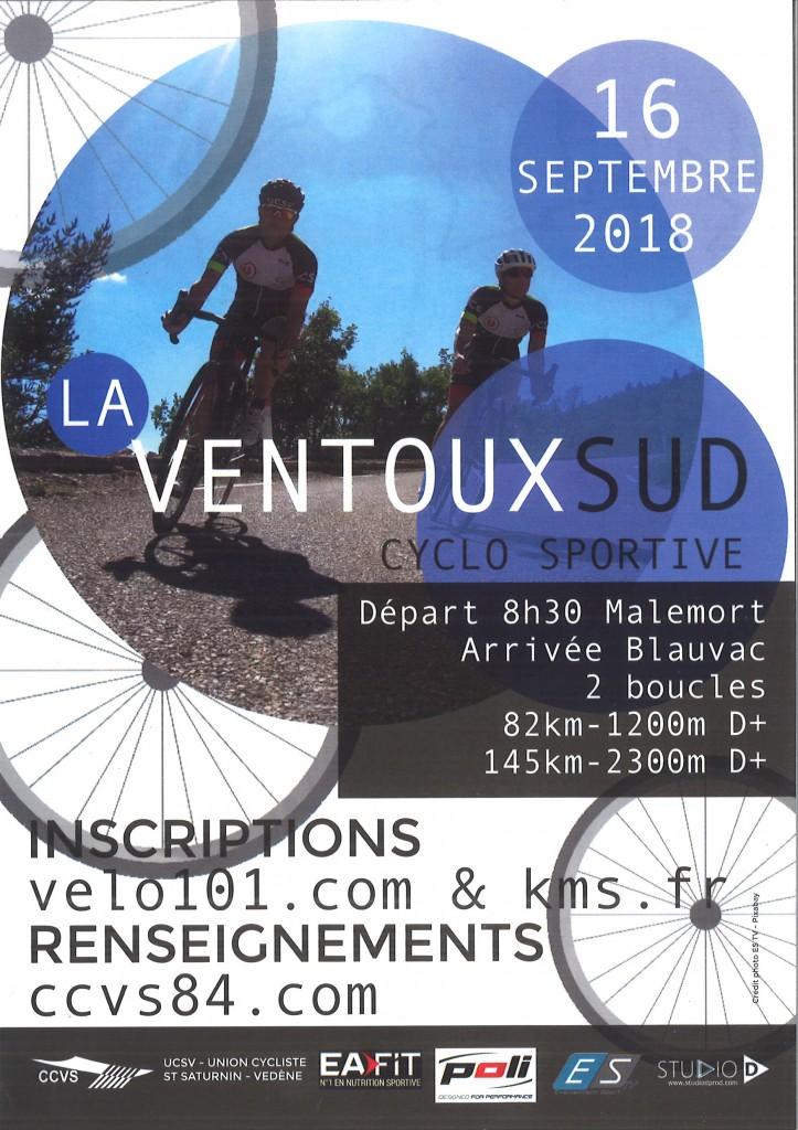 LA VENTOUX SUD CYCLO SPORTIVE AFFICHE
