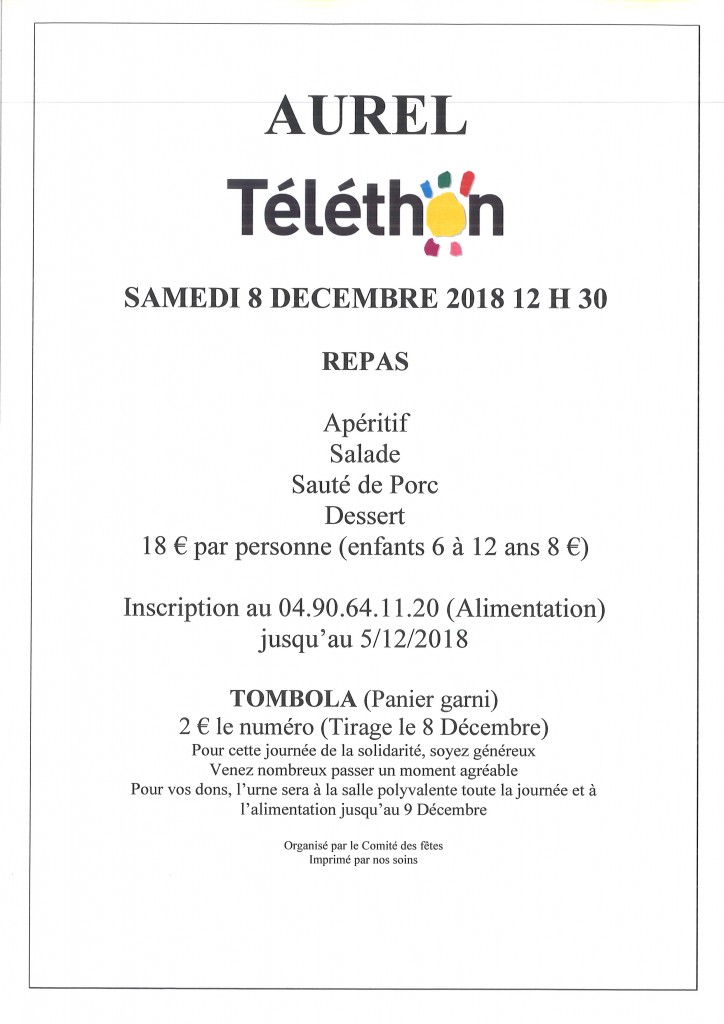 TELETHON AUREL 2018