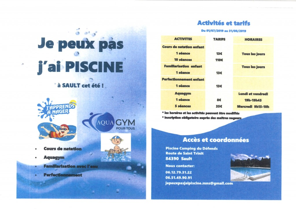 PISCINE CAMPING DU DEFENDS SAULT