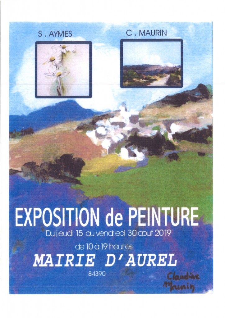 EXPOSITION DE PEINTURE AYMES MAURIN