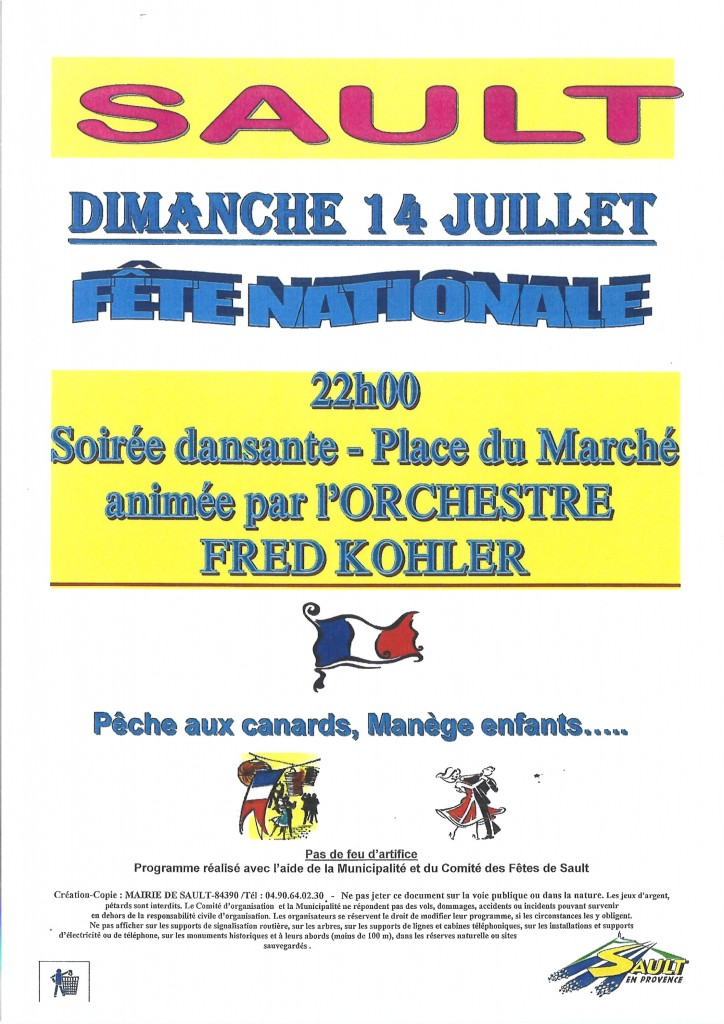 FETE NATIONALE 14 JUILLET
