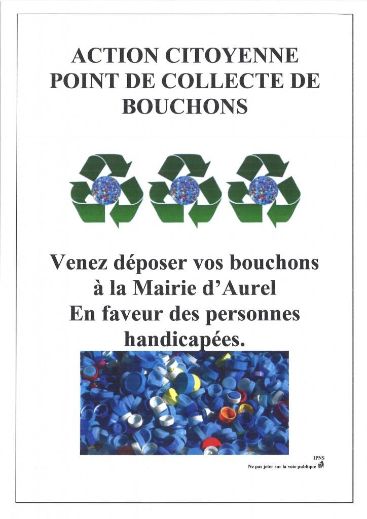 COLLECTE DE BOUCHONS AUREL