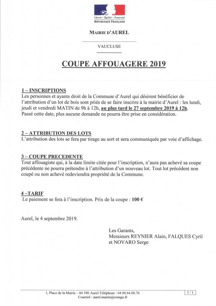 COUPE AFFOUAGERE 2019