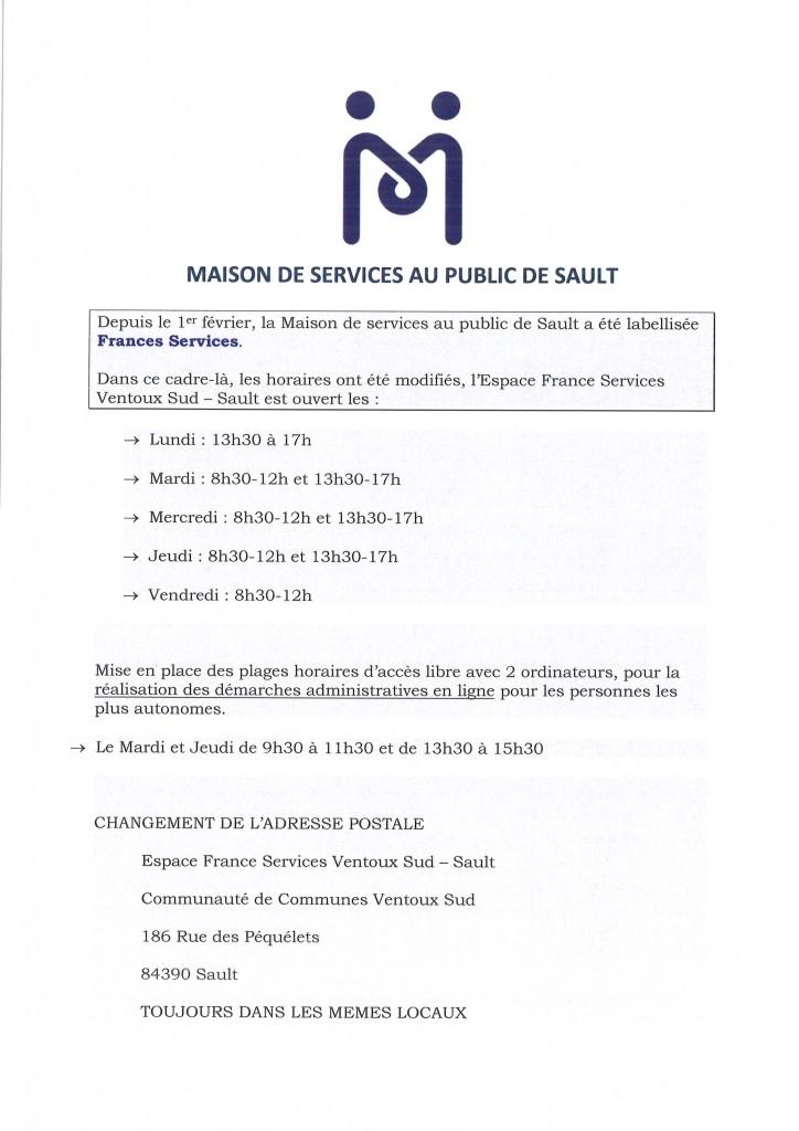 MAISON DE SERVICES AU PUBLIC SAULT